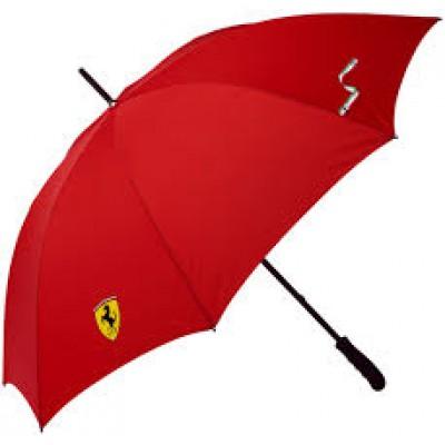 *Красивый зонт-трость Ferrari, красного цвета