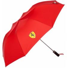 *Полуавтоматический складной зонт Ferrari, красный