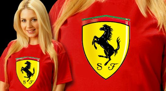 Одежда с логотипами авто: Ферари, Ауди и другие
